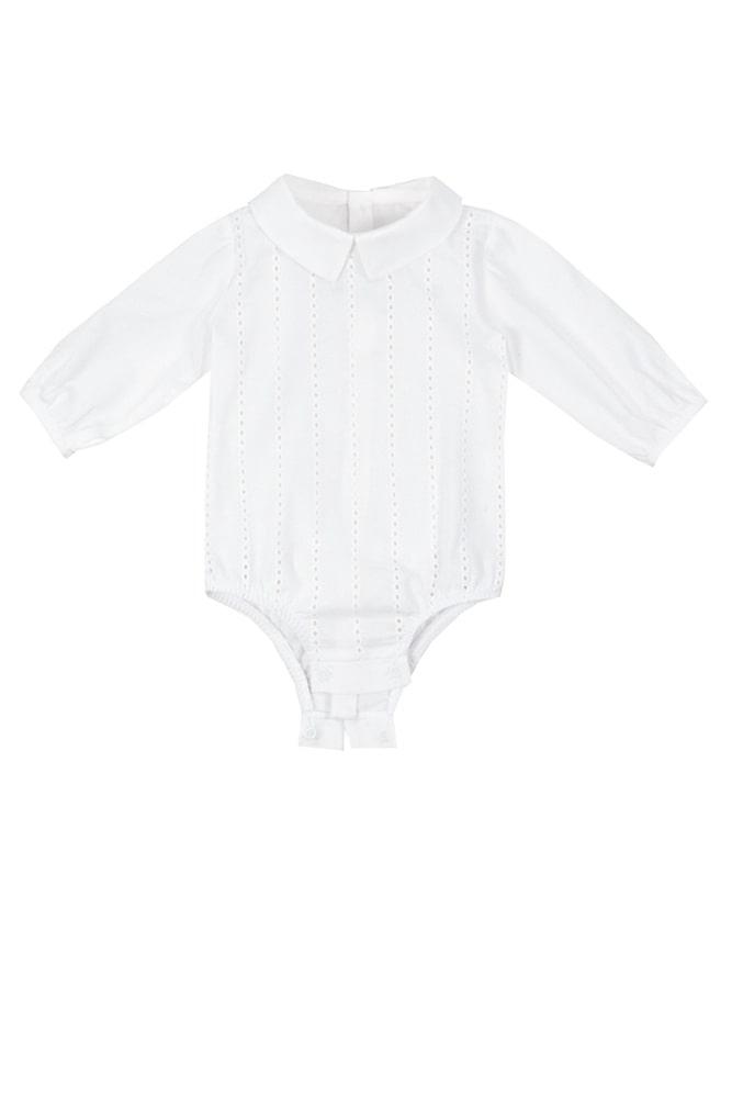 Cămașă-body albă pentru bebeluși Amir
