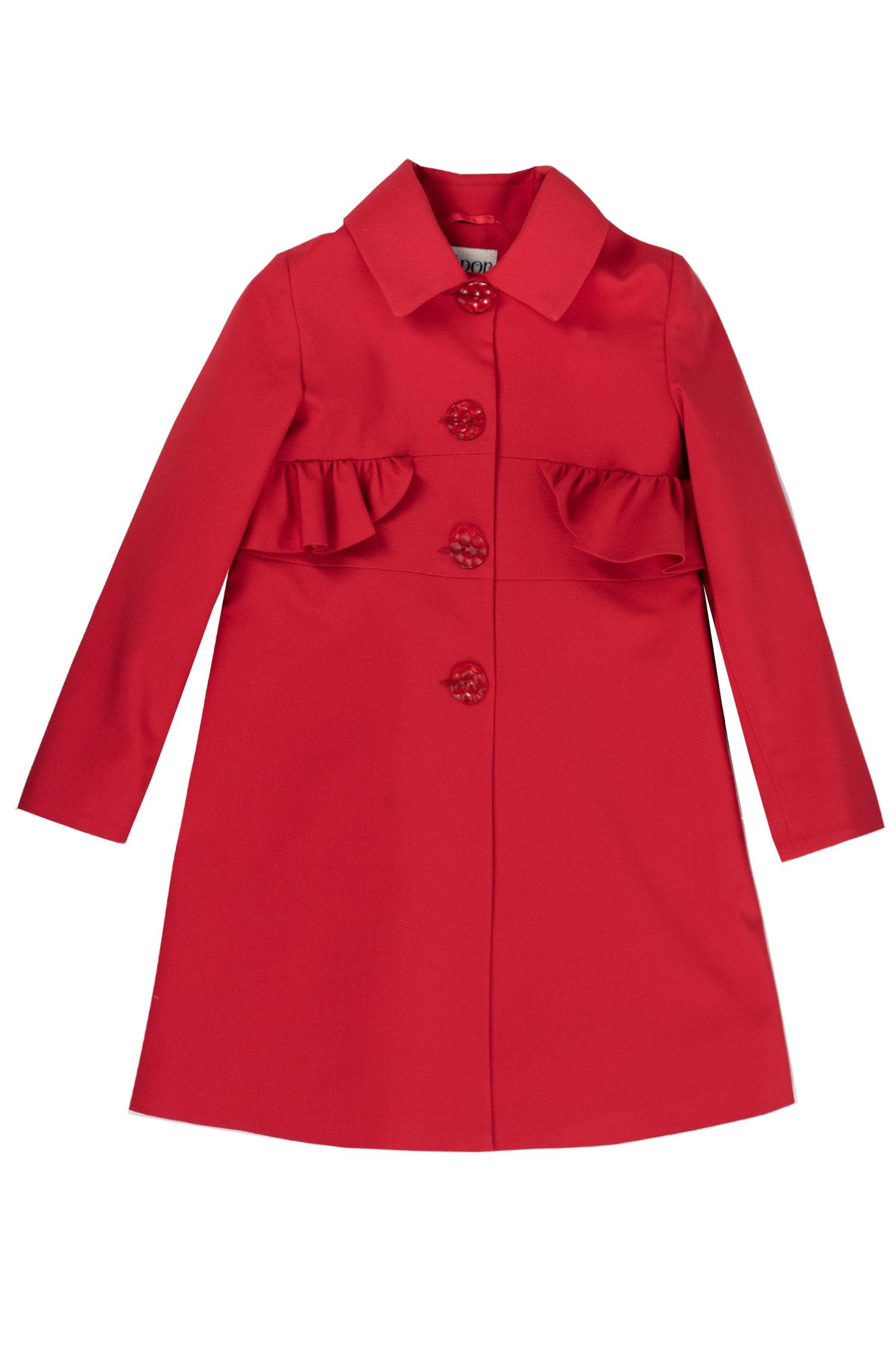 Pardesiu roșu pentru fete Carmine