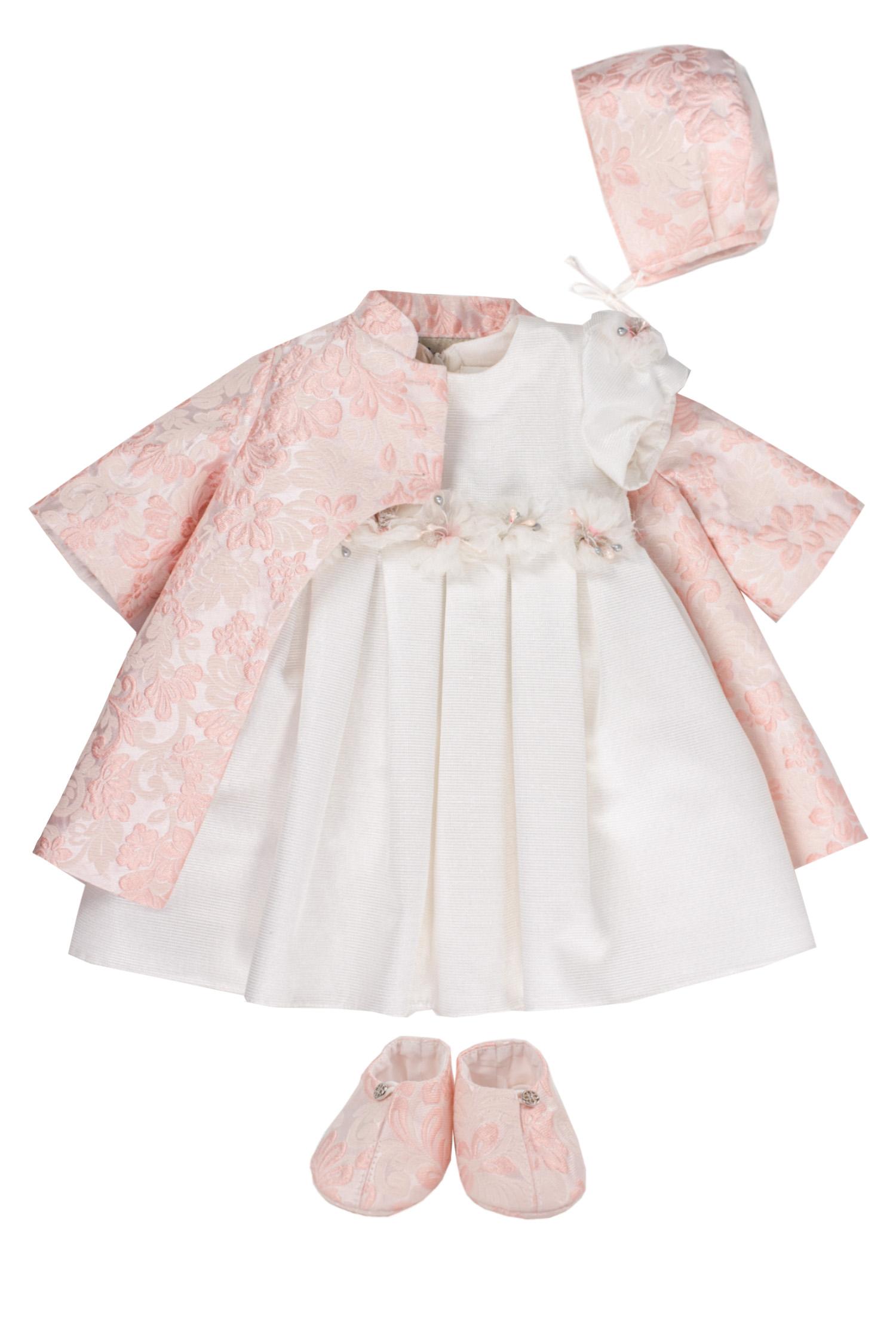 Pardesiu și rochie de botez pentru fetițe Alice