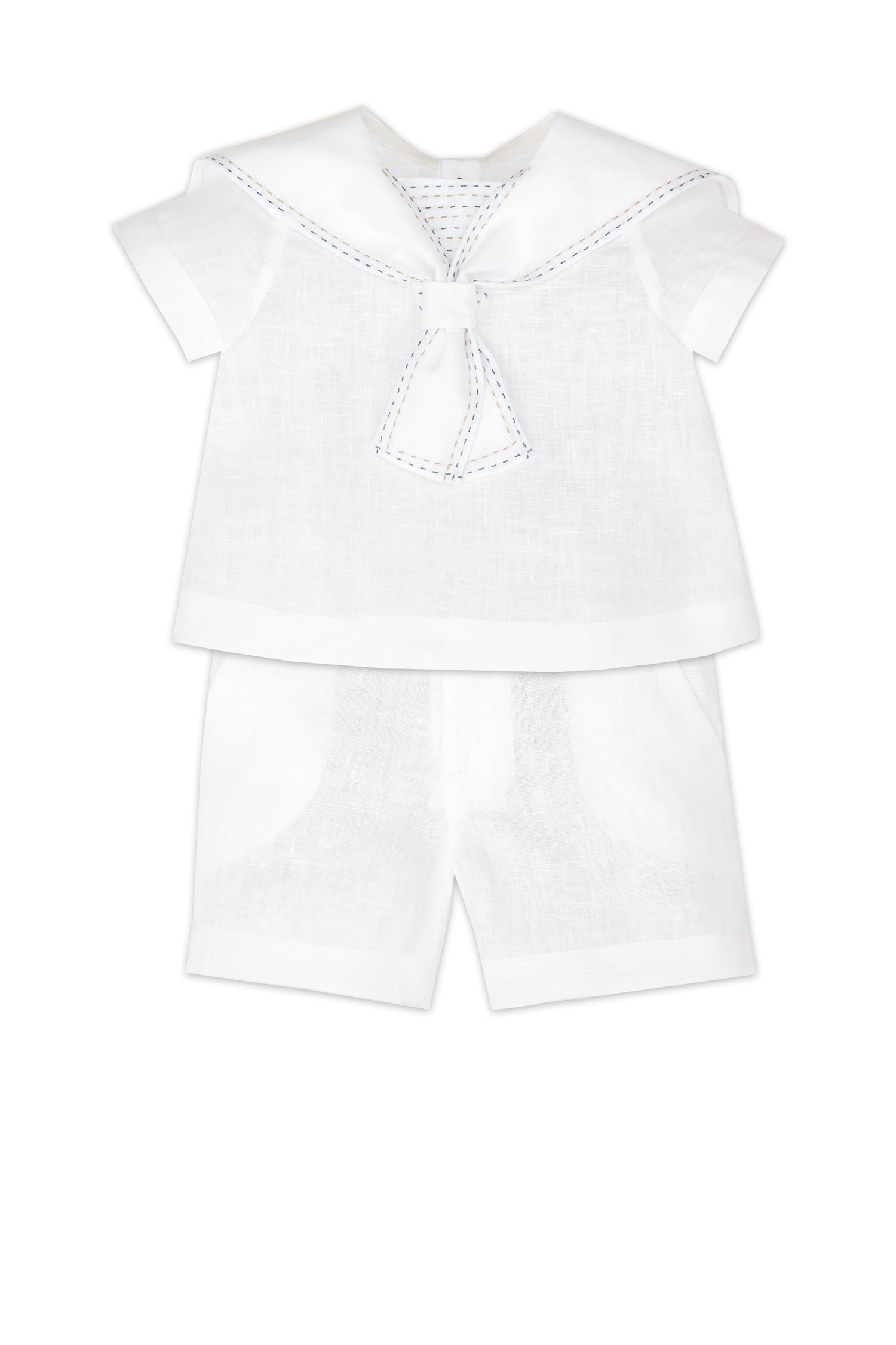 Set din in alb pentru bebeluși Horațiu